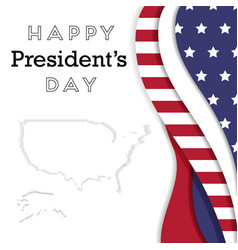 Presidents day in usa background vector
