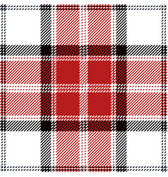 red and white tartan plaid seamless pattern vector image