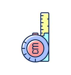 retractable flexible rule rgb color icon vector image