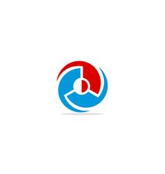 round circle spin logo vector image