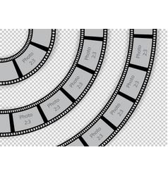Round film strip vintage swirl design element vector