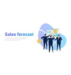 sales forecast businessman present prediction in vector image