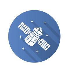 Satellite flat design long shadow glyph icon vector