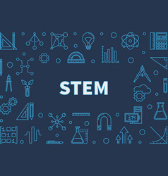 science technology engineering and math blue vector image