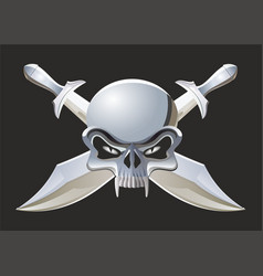 Scull and crossed swords vector