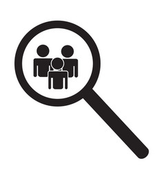 Search people icon magnifier glass searching vector