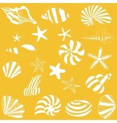 Seashells and starfish pattern vector image