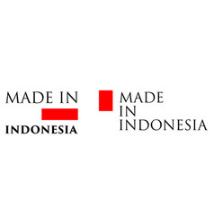 simple made in indonesia label text with national vector image
