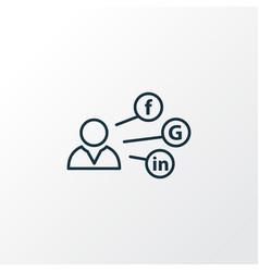 social media icon line symbol premium quality vector image