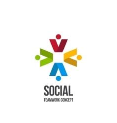 Social Teamwork icon vector image