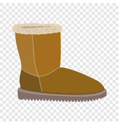 soft winter boot icon flat style vector image