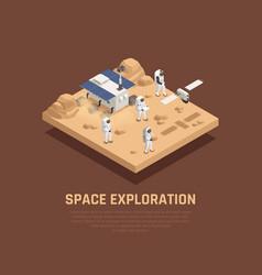 Space exploration concept vector