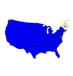 state of rhode island vector image