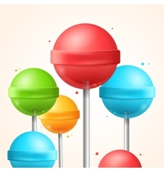 Sweet Candy Colorful Lollipops Background vector