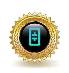 Theta token cryptocurrency coin gold badge vector
