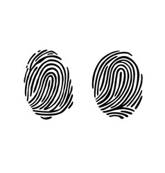 thumb print fingerprint vector image