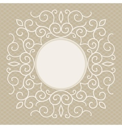 trendy linear frame with copy space for vector image