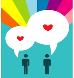 two inlove gay couple vector image