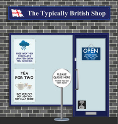 typically british shop vector image