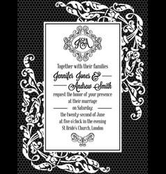 Vintage delicate formal invitation card royalty free vector stopboris Images