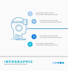 Vr googles headset reality virtual infographics vector
