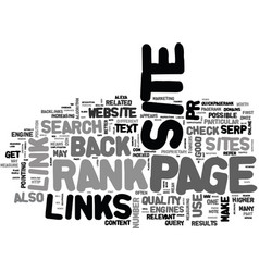 what is page rank what are back links and why do vector image