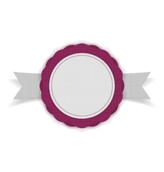 White and purple Sale Emblem on Ribbon vector