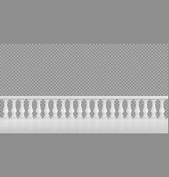 White marble balustrade for balcony or terrace vector