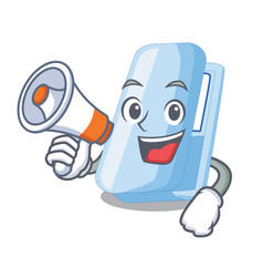 with megaphone staplers in the a cartoon shape vector image