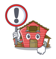 With sign character red barn building with vector