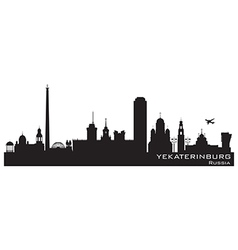 Yekaterinburg Russia city skyline Detailed silhoue vector image