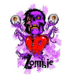 Zombie heart vector