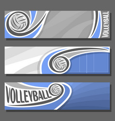 horizontal banners for volleyball vector image vector image