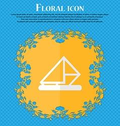 letter envelope mail Floral flat design on a blue vector image
