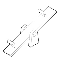 Seesaw icon in outline style vector image