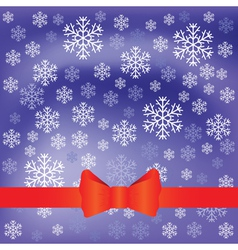 blue background and snow flakes vector image