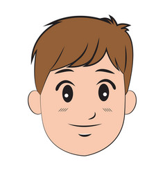cartoon character man young person vector image