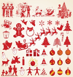 Christmas silhouettes pack vector