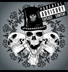 skull tattoo wallpaper vector image vector image