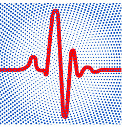 abstract cardiogram icon vector image