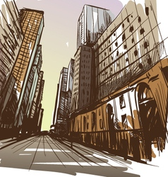City hand drawn vector image vector image