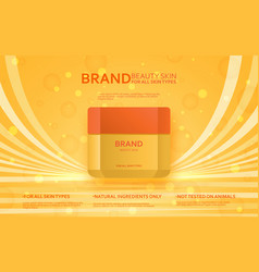 Cosmetic bottle template beauty skin collection vector