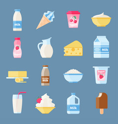 dairy products or milk set vector image