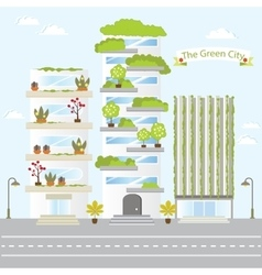 Eco Green City Future Building Design Life Nature vector image