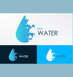 logo water liquid with dot vector image vector image