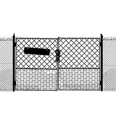 Old gate vector image