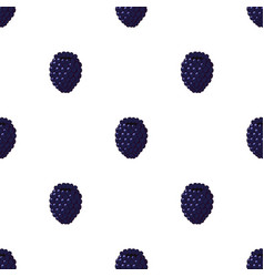 seamless pattern of blackberry vector image vector image