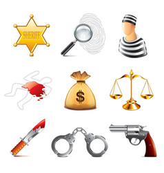 set crime vector image