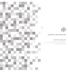 abstract geometric gray and white pattern vector image vector image