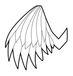 angelic wing icon outline style vector image vector image